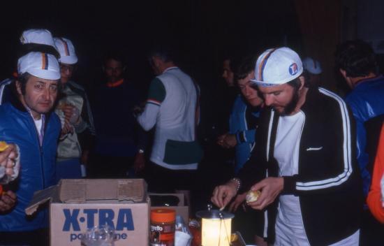 1982 24H d'Angers ravito à Bourgneuf en retz Dominique et Loulou