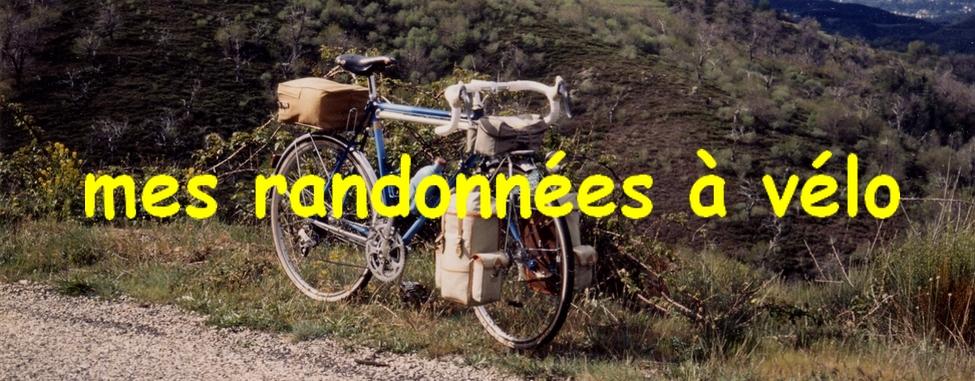 Mes randonnées à vélo