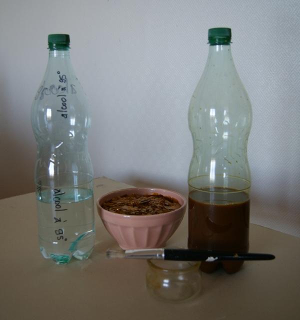 préparation de la gomme laque